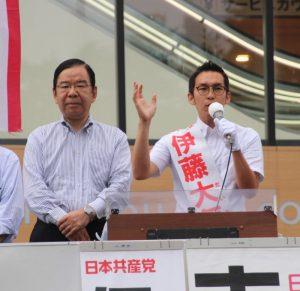 押上駅前に1000人の聴衆!勝ちにいく選挙!伊藤大気に皆さんの願いを託してください!